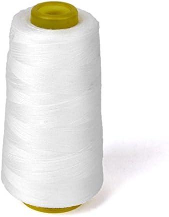 Hilos de hilo para máquina de coser industrial, poliéster, conos de metros blanco: Amazon.es: Hogar