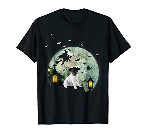 Toy Fox Terrier Dog And Moon Halloween T-Shirt for $<!--$17.99-->