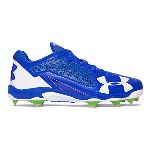 Mens Molded Baseball Cleats (Under Armour Men's Deception Low DiamondTips, Team Royal/White, 11.5 D(M) US)
