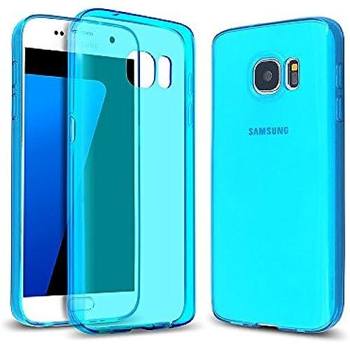 Arbalest Samsung Galaxy S7 Case, TPU Slim Soft Skin Perfect Fit Transparent Cover Gel Case - Blue Sales