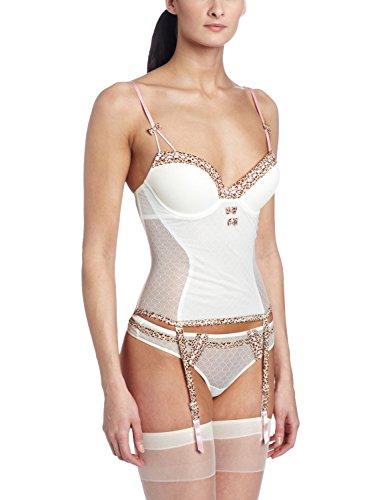 Jezebel Women's Tease Bustier Underwear, Ivory, Large Felina Bustier