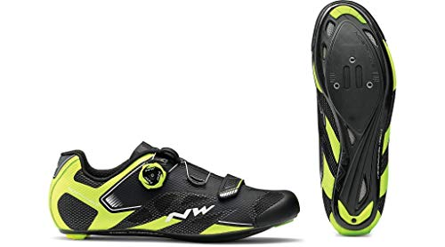Northwave Sonic 2 Plus Cycling Shoe - Men's Black/Yellow Fluo/White, 43 ()