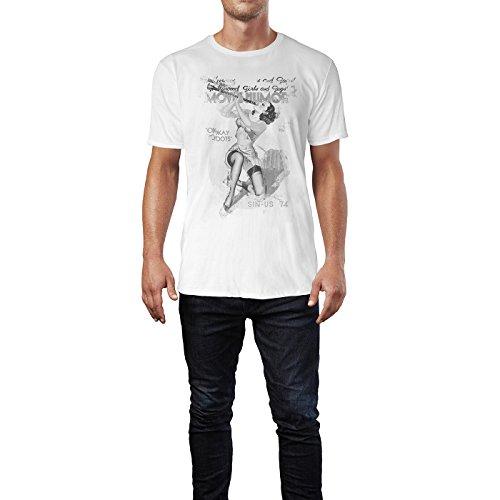 SINUS ART® Movie Humor Herren T-Shirts stilvolles weißes Fun Shirt mit tollen Aufdruck