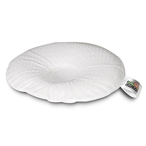 Mimos Baby Pillow (XL) - Airflow Safety (German TUV Certification) - Size XL (1- 10 Months) - The only breathable safe and clinically tested effective baby pillow for plagiocephaly by Mimos