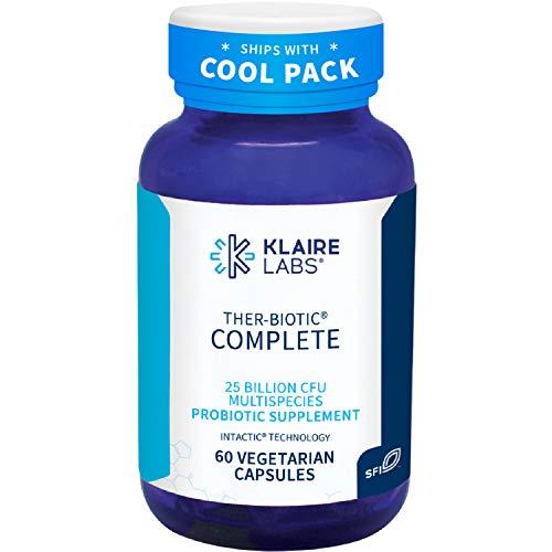 Klaire Labs Ther-Biotic Complete Probiotic - 25 Billion High CFU Blend, The Original Hypoallergenic Probiotic for Men & Women, Dairy-Free (60 Capsules)