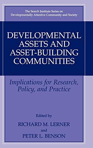 Developmental Assets and Asset-Building Communities:...