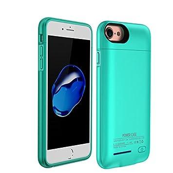 YiYunTE Funda Batería iPhone 6/6S/7 Case Carcasa Con Batería Cargador-Batería Externa Recargable 3000mAh Para iPhone 6/6S/7 (Azul)