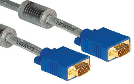 Professionelles VGA Kabel 10m transparent - SVGA Beamer: Amazon.de ...