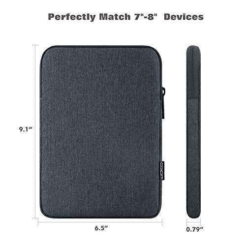 "MoKo 7-8 Inch Tablet Sleeve Bag, Polyester Pouch Cover Case Fits iPad Mini (5th Gen) 7.9"" 2019, iPad Mini 1/2 / 3/4, Samsung Galaxy Tab S2 8.0, Tab A 8.0, NeuTab 7"", ZenPad Z8s 7.9 - Space Gray"
