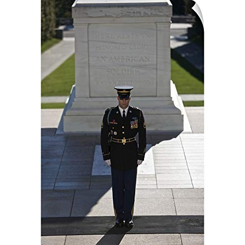 CANVAS ON DEMAND Terry Moore Wall Peel Wall Art Print Entitled Changing of Guard at Arlington National Cemetery ()