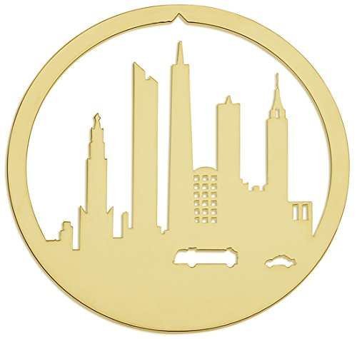 Valerie Atkisson One World Trade Center Downtown New York City Christmas Ornament, 24K Gold Plated ()