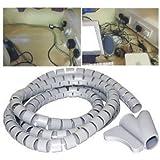 2m Alambre de Envoltura de Cable Kit Ordenado Organización Flexible Kit de Seguridad para TV DVD PC