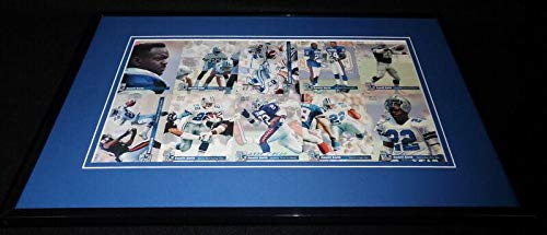 Emmitt Smith Signed Framed 1993 Pro Set Uncut Card Sheet Cowboys Florida - NFL Autographed Football ()