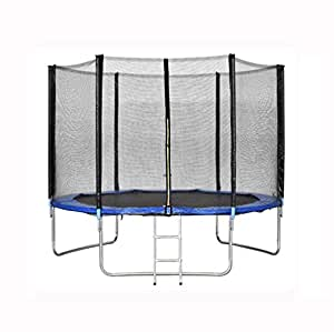 Trampolines Jump Safety Enclosure Net WIth Spring Pad Ladder (10FT)