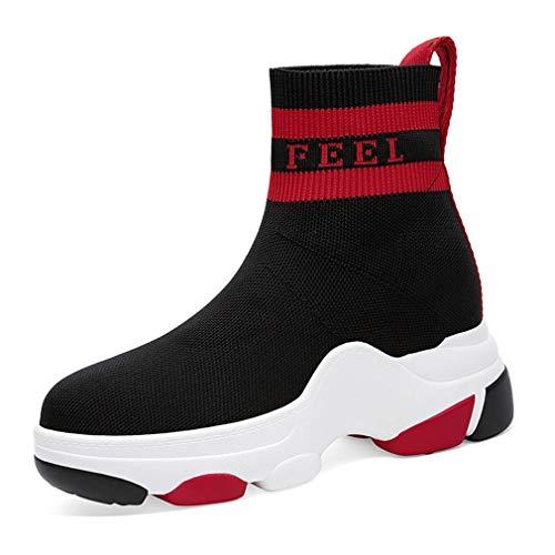 Primavera Stivali Sneakers B Moda Per Della Maglie Invisibili Yan Sportive top Casual Scarpe L'aumento Donna Autunno High Da Mesh wRRfIqd