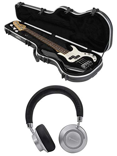 SKB 1SKB-FB-4 Precision Electric Bass Guitar Hard Case+Free Wireless Headphones ()