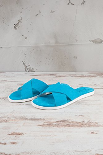 Busche Womens Serraje Mules Turquoise Turquoise PZgsk3nss