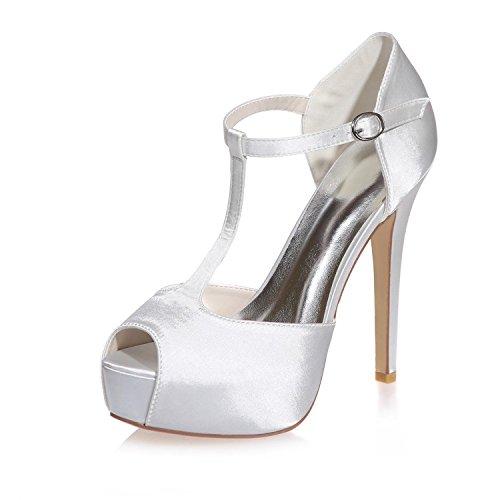 L@YC Sandalias Peep Toe De Novia Para Mujer / Noche De Fiesta Y MáS Colores Disponibles Blanco