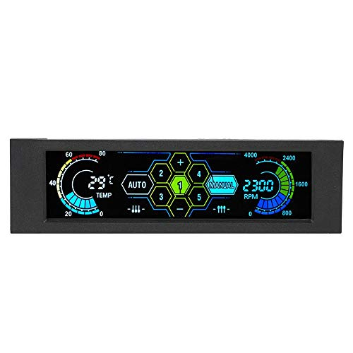 KKmoon Sunshine-tipway Fan Controller Temperature Monitor Automatic Speed Control LCD Front Panel STW 5.25