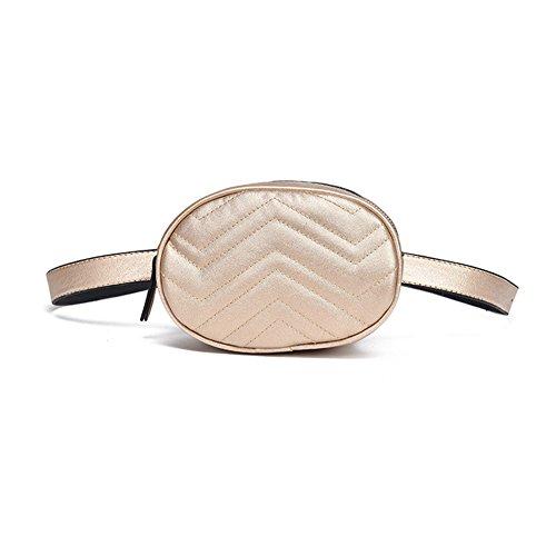 Women PU Waist Bag Fanny Packs Waist Pouch by XINANIWTA (Gold) by XIANIWTA