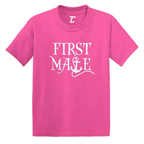First Mate - Sailor Boat Matching Infant/Toddler Cotton Jersey T-Shirt (Pink, 5T)