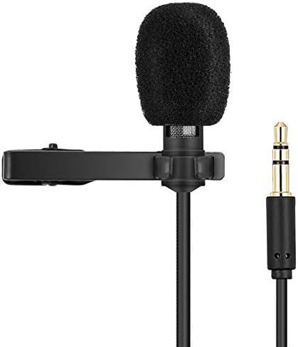 有線録音マイク Yanmai R955クリップオンラペルマイクLavalier全方向性二重コンデンサーマイク、ライブ放送、ショー、KTVなどの、アンチジャミングデュアルコンデンサマイク。