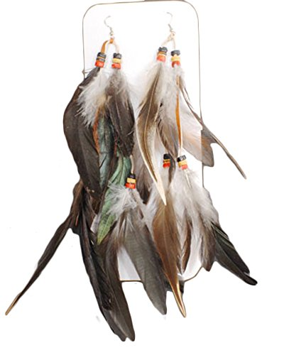 Native American Feathered Earring Set One Size ()
