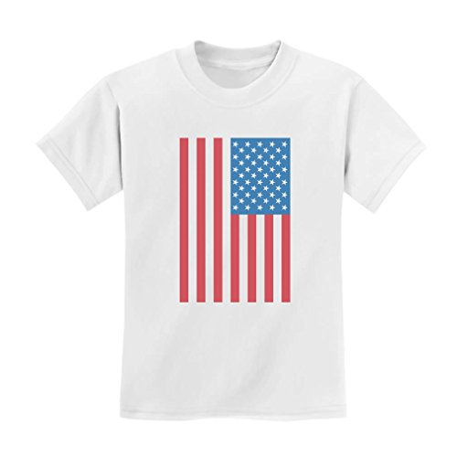TeeStars - Cute American Flag USA - 4th of July Baby Bodysuit Kids T-Shirt 4T White ()