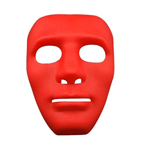 [niceEshop(TM) Hallowmas Mask Halloween Costume Bboy Hip-Hop Dance Mask Masquerade Cosplay Party Performance, Red PVC] (Jabbawockeez Costumes Halloween)