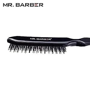 MR. BARBER Professional Teaser Hair Back Comb MB TB Combing Teasing Brush (Black)