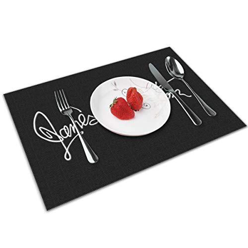 HAWNFERK Jane's Addiction Placemat Set of 4 Non-Slip Washable Place Mats,Dining Room Kitchen Table Decor