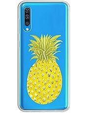 Oihxse Transparente Silicona Case Compatible con Samsung Galaxy Note 10 Plus/10+ Funda Suave TPU Protección Carcasa Moda Dibujos Animados Divertida Diseño Ultra-Delgado Cubierta-Piña