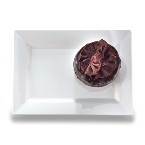 EMI Yoshi EMI-RP6W Rectangle Plastic Dessert Plate, 5.5 by 7.5-Inch, White, 120 Per Case