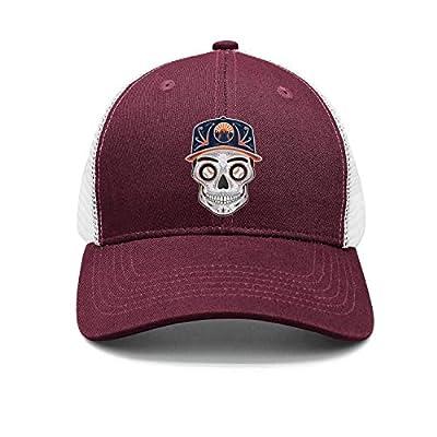 Unisex Classic Mesh Baseball Cap-New York Baseball Skull Mets_Art Style Low Profile Travel Sunscreen Hat Outdoors