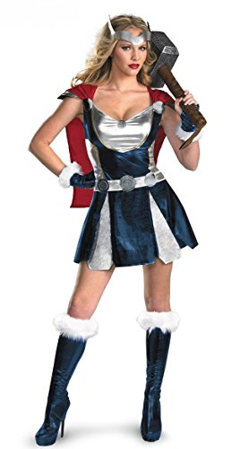 [HPLY Women's Cosplay Thor Girl Cosplay Superhero Party Dress] (Woman Thor Costume)