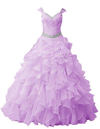 Dresstells®Vestido Largo De Princesa Romántico Con Tirantes Lavanda