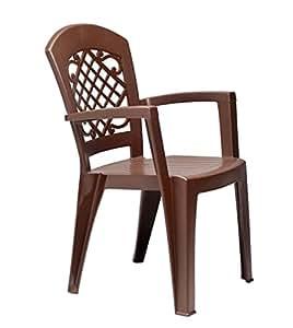 Resina de alta calidad Brazo sillas apilables–perfecto para uso interior y exterior