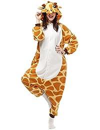 Dona Halloween Unisex Adult Pajamas Cosplay Costume Animal Onesie Sleepwear Nightwear