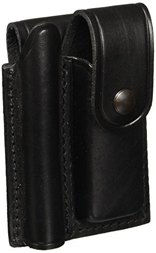 Maglite Mini Maglite/Pocket Knife Leather Holster, Black