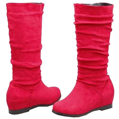Aux Genouillres Sjjh Femme Rouge Bottes vSSwB5aq