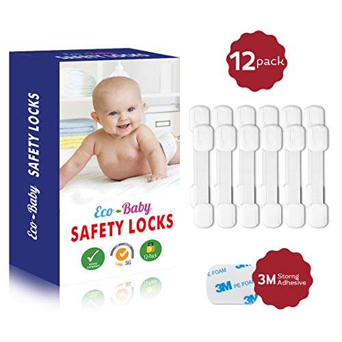 Magnetic Cabinet Locks Child Safety for Drawers and Cabinets – Kitchen Child Proof Cabinet locks – Baby Proofing Safety (12-Pack)