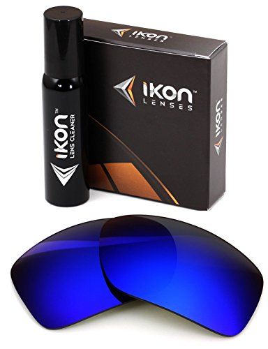 Polarized Ikon Iridium Replacement Lenses for Oakley Big Taco Sunglasses - Deep Blue - Iridium Polarized