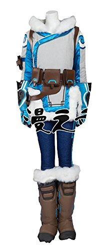 [Mtxc Women's Overwatch Cosplay Costume Dr. Mei-Ling Zhou Full Set Size XX-large Blue] (Mei-costume)