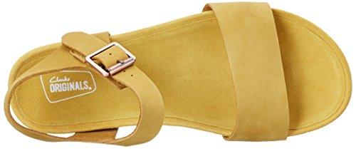 Clarks 261227354, Sandalias Mujer Amarillo (Yellow Ochre)