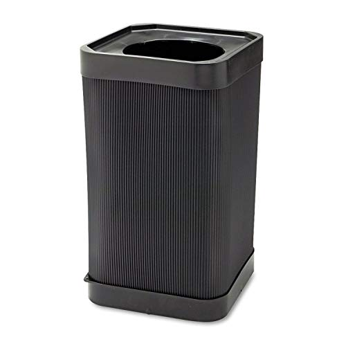 At-Your Disposal Top-Open Waste Receptacle, Square, Polyethylene, 38gal, Black, Sold as 1 - Gallon 38 Receptacle