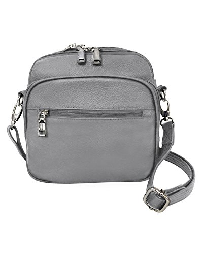 Leathers Square Cross Leather amp; Gray Roma Bag Purse Conceal body Gun Men Women Carry qRd5wx