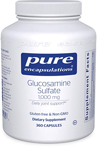 Pure Encapsulations - Glucosamine Sulfate 1000 mg - Dietary Supplement Supports Healthy Cartilage and Joint Function - 360 Capsules