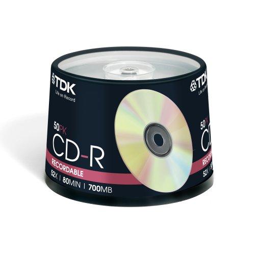TDK - 50 x CD-R - 700 MB ( 80 Min ) 52x (Tdk Wireless Headphones)