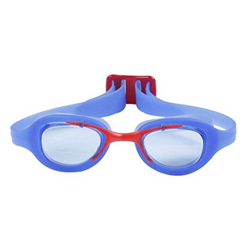 Swimming goggles Lunettes de natation enfant Lunettes de natation anti-buée HD (Couleur : Bleu)