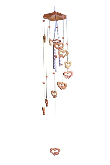 Niceeshoptm Handmade Wind Chime Bell Heart Shaped Aeolian Bells